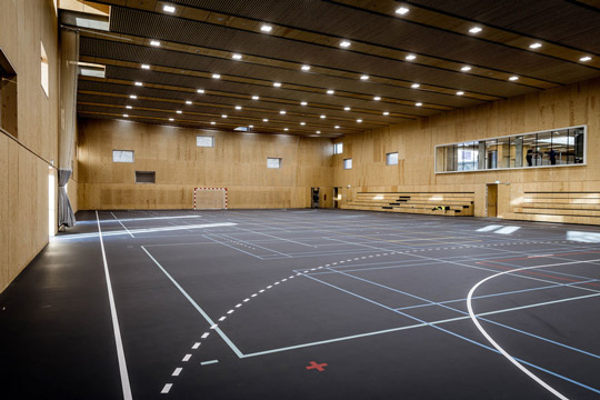 Den nye idrætshal I Energicenter Voldparken