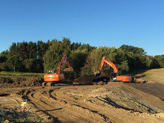 Udgravning til ny udstykning i Hvalsø