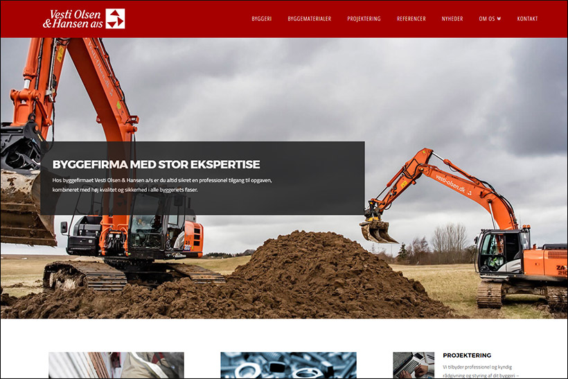 Ny hjemmeside til Vesti Olsen & Hansen