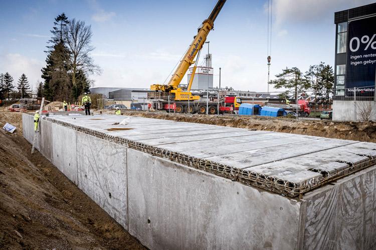 Byggefirmaet Vesti Olsen & Hansen a/s bygger det nye Idé Møbler i Roskilde