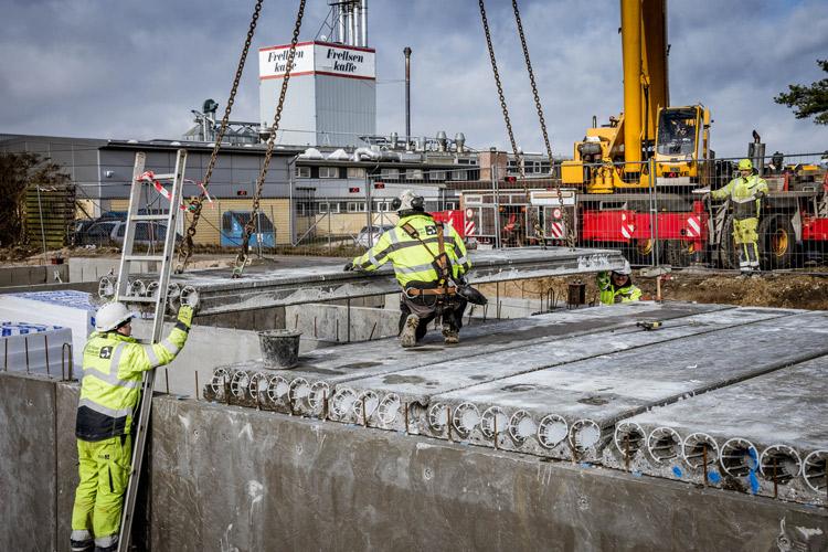 Montering af betondæk