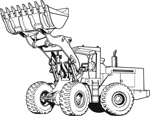Bulldozer stregtegning