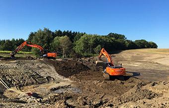 Udgravning for Fors i Hvalsø