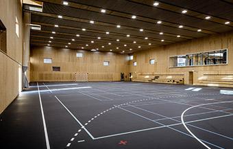 Idrætshal bygget af Vesti Olsen & Hansen