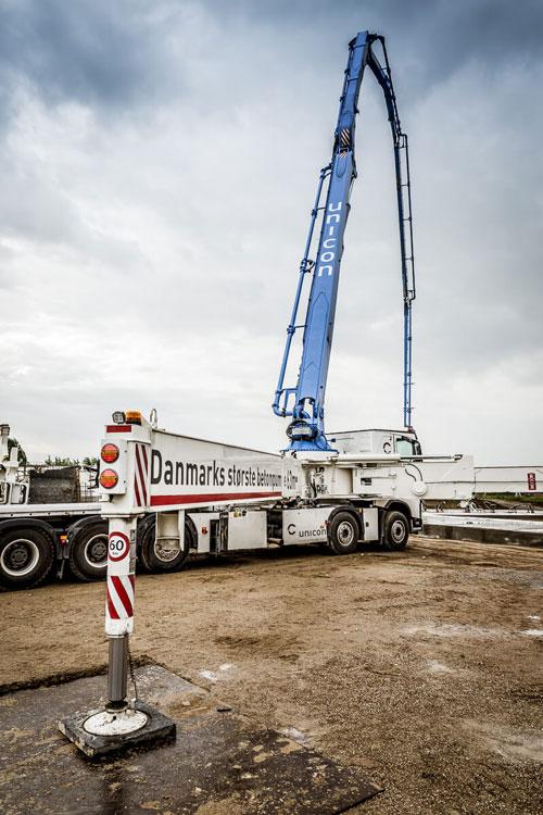 Danmarks største betonpumpe
