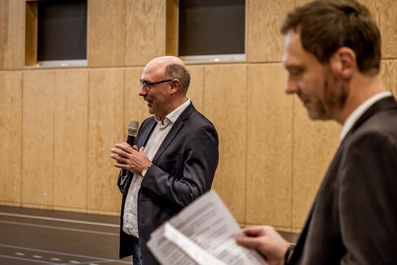 Fritidschef Mads Kamp Hansen ved indvielse af ECV