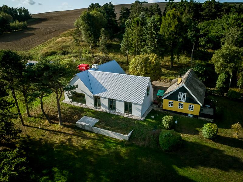 Dronefoto - huset i Asnæs