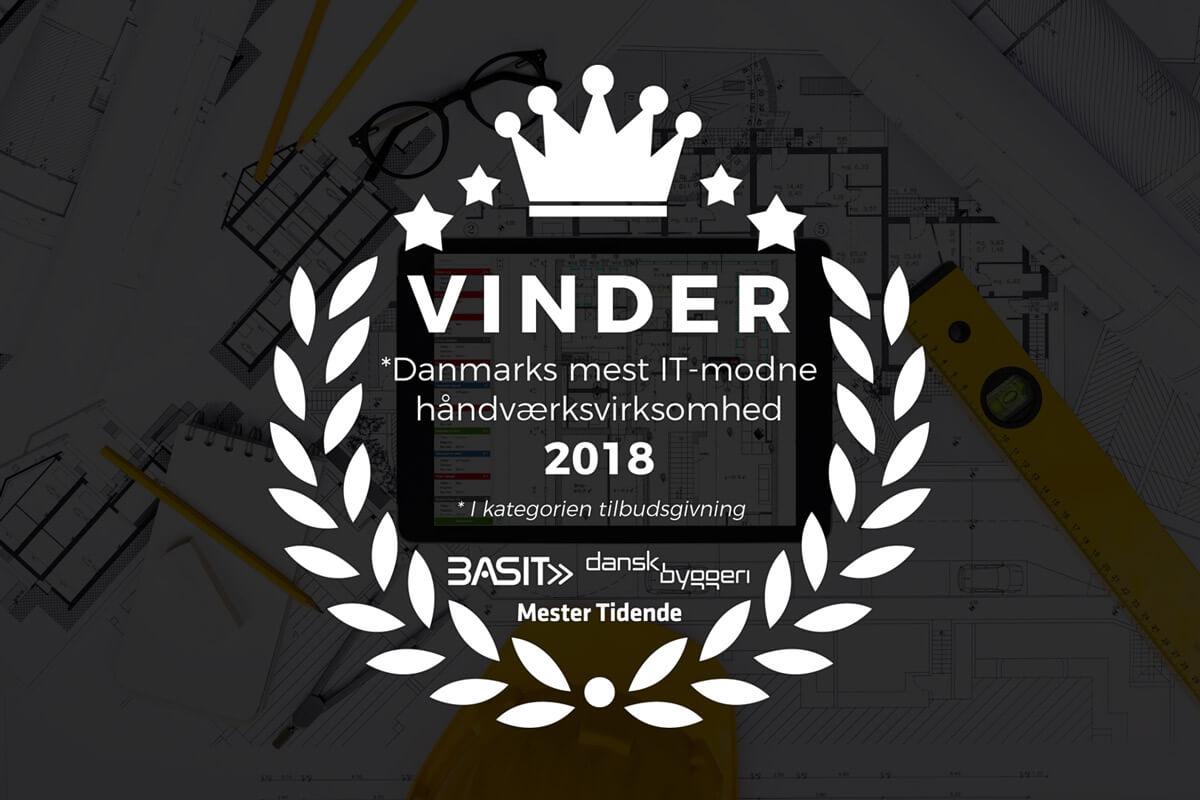 Vinder af Danmarks mest IT-modne håndværkervirksomhed