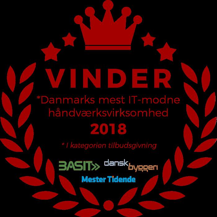 Vinder af Danmarks mest IT-modne håndværksvirksomhed 2018