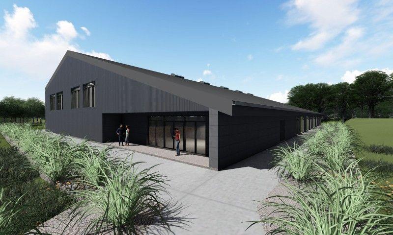 Ny idrætshal til Sportsefterskolen Sjælsølund indgangsparti