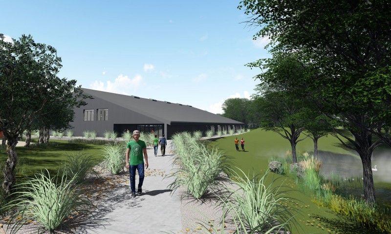 Ny idrætshal til Sportsefterskolen Sjælsølund område