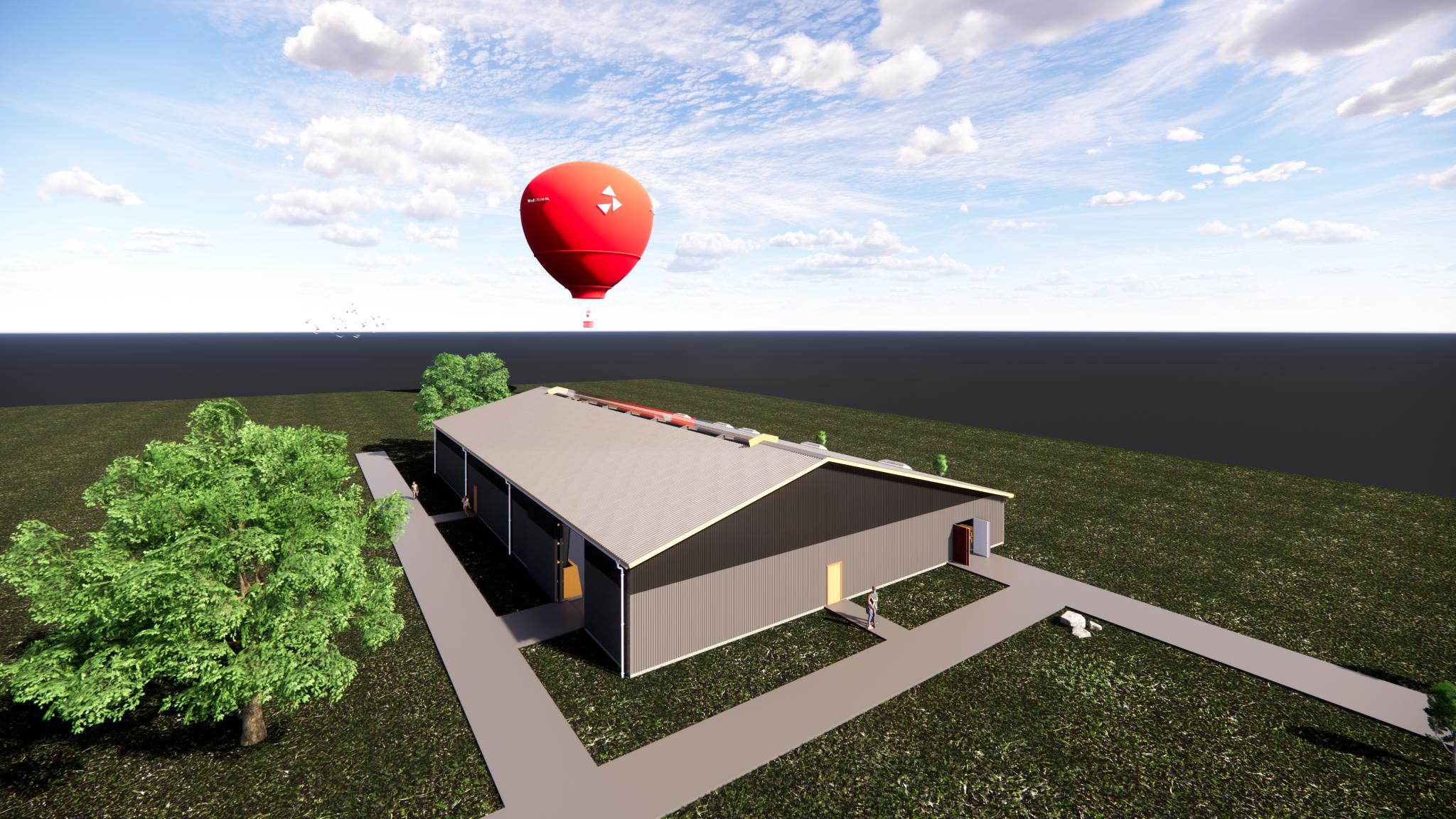 3D snittegning af landbrugshal