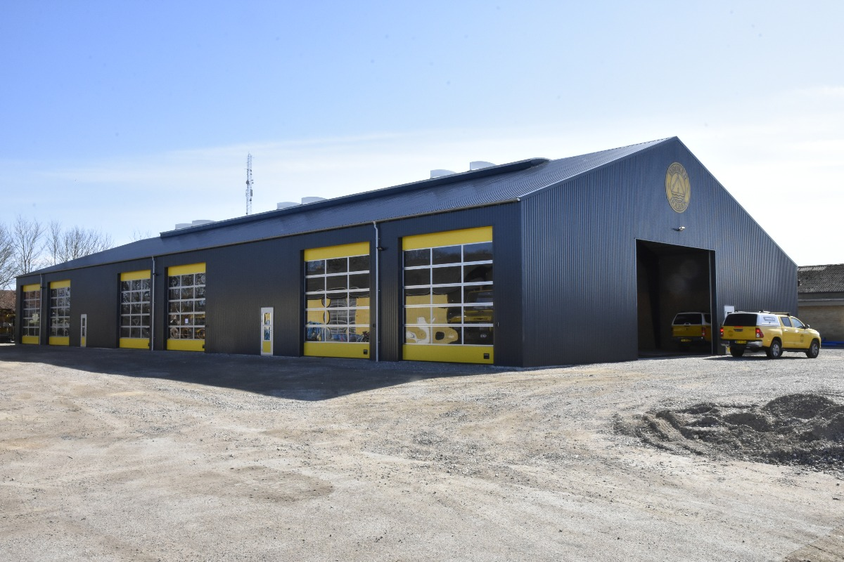 Billede af 1.000 m2 stålhal til lager og maskiner