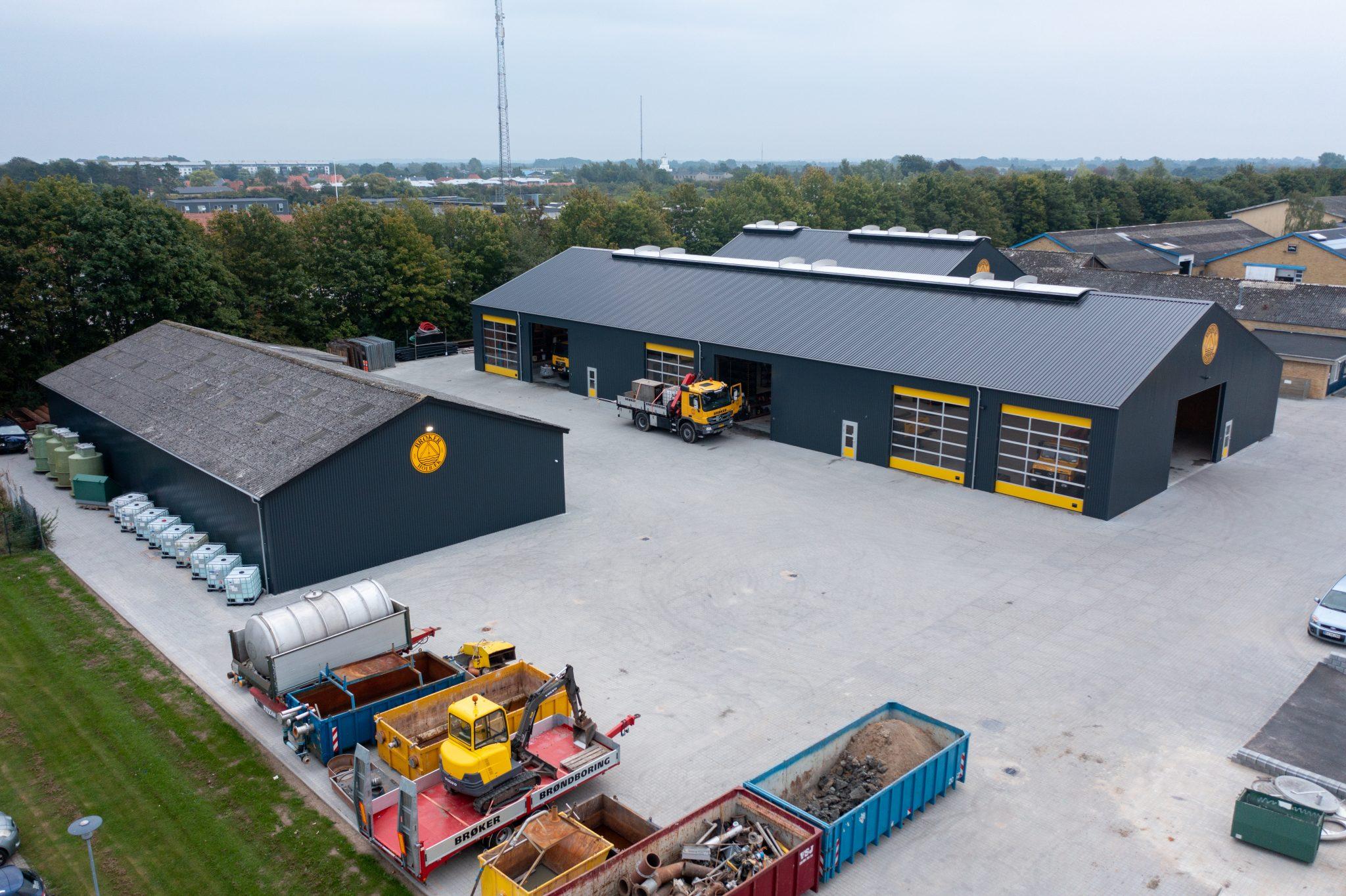 Billede af 1.000 m2 Stålhal - lagerbygning til materiel